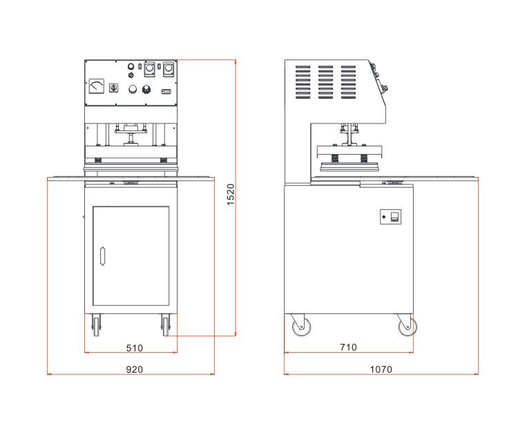 Blister Sealing Machine - plan image
