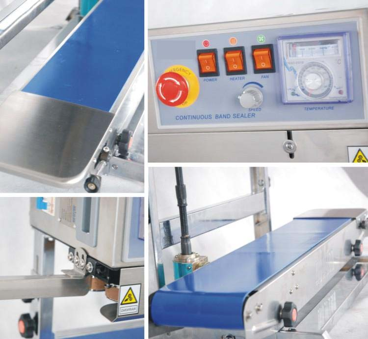 continuous band sealer vertical - machine sectional photo 1