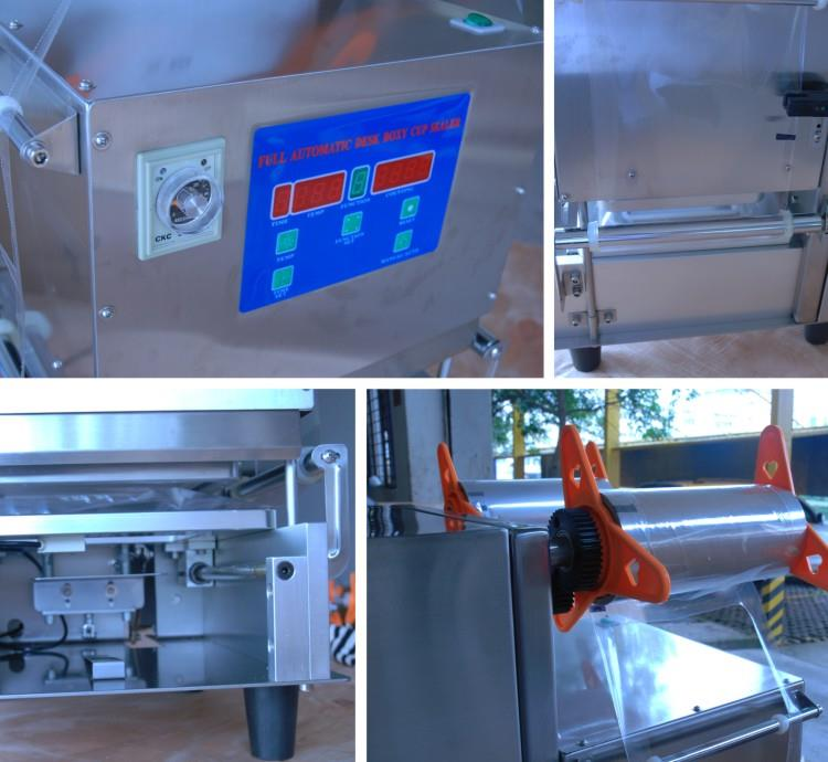 Automatic Cup Sealer - machine sectional photo