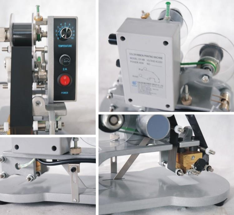 Manual Hot Foil Coding Machine - machine sectional photo