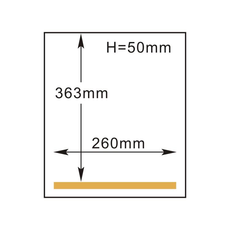 Vacuum Packaging Machine- Single Side - measurements