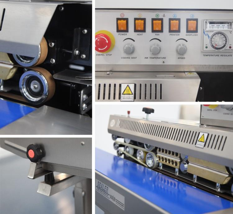 Continuous Band Sealer-with Gas Flushing- machine sectional photo