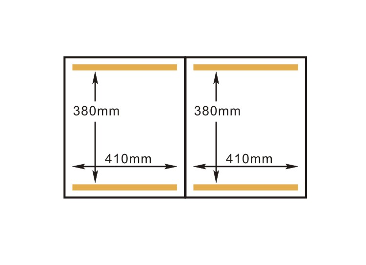 Double Chamber Vacuum Packaging Machine - measurements