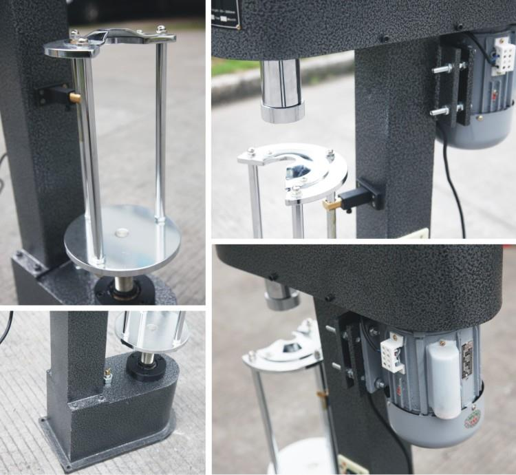 Plastic Locking Capping Machine - machine sectional photo