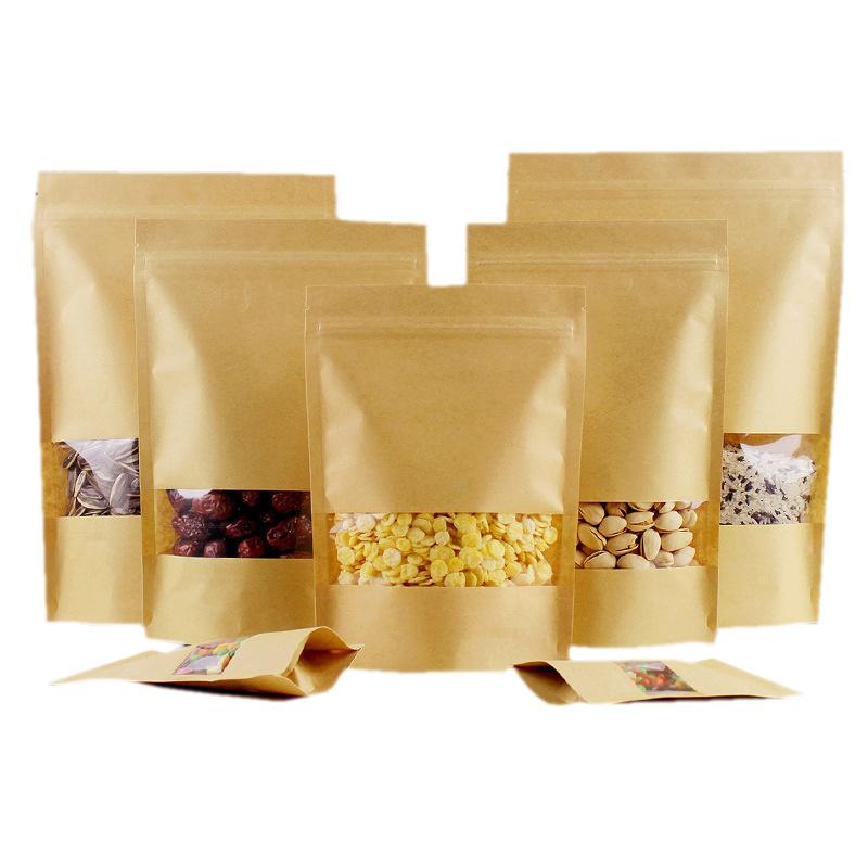 Kraft Paper Ziplock Bags Pic